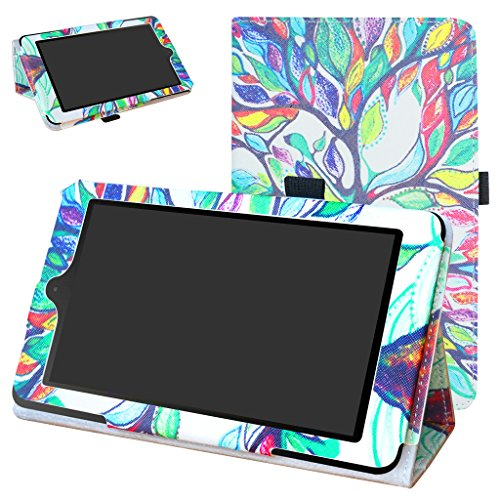 NOOK Tablet 7 2016 Case,Mama Mouth PU Leather Folio 2-folding Stand Cover for 7