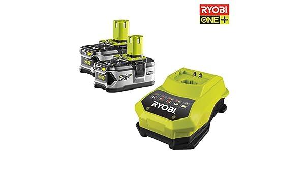 Ryobi RBC18LL40 - Pack cargador 1 h + 2 Baterías Lítio-Ion ...