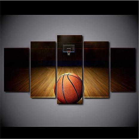 5 Unidades Bola Impresión Lienzo Baloncesto Deporte Pintura Pared ...