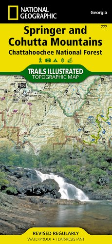 National Forest Trail Map (Springer and Cohutta Mountains [Chattahoochee National Forest] (National Geographic Trails Illustrated Map))