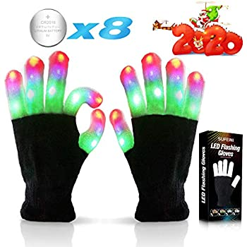 Best Gifts superwinky Colorful Flashing Light Up Gloves for Kids