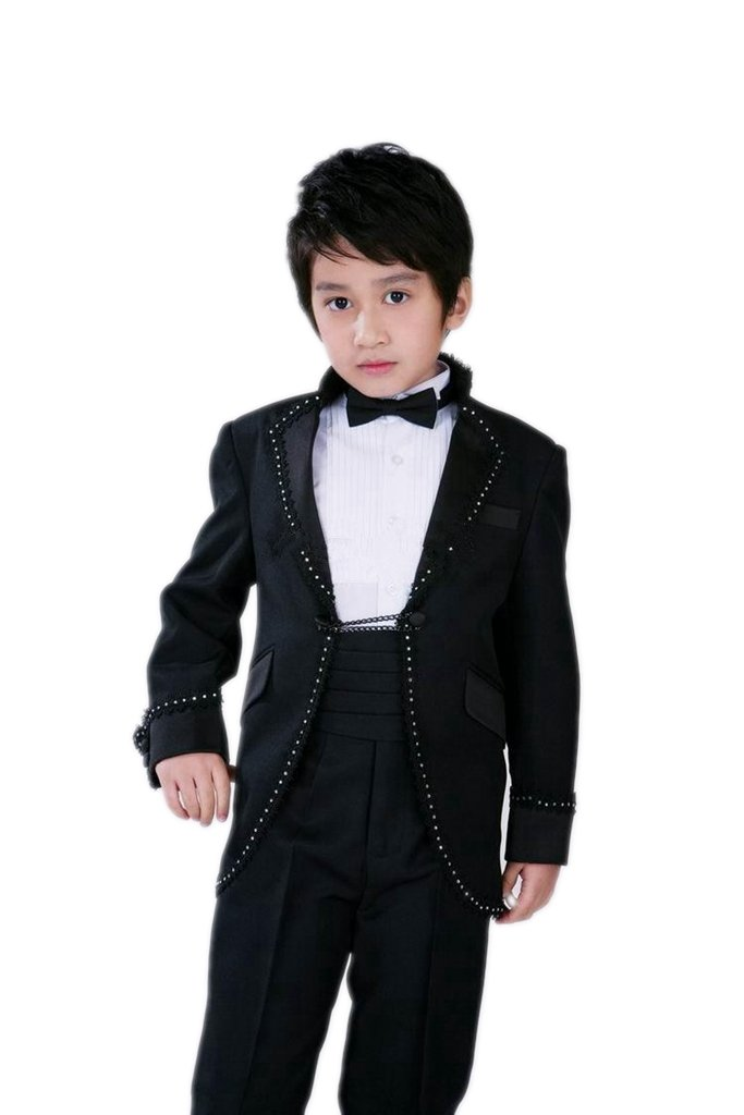 MLT Boy's Custom Made Long Two Pieces Party Prom Wedding Suit (S)