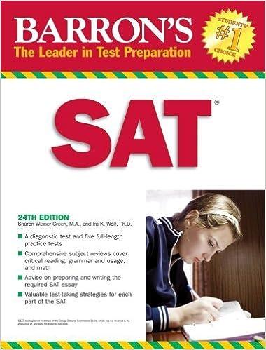 Amazon.com: Barron's SAT eBook: Ira K. Wolf: Kindle Store