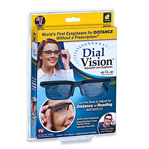 2825cb3c87f8 Dial Vision Adjustable Glasses in Black As Seen On TV!