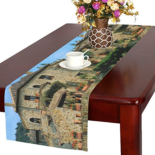 - Happy More Custom Italian Country Villas Durable Cotton Linen Table Runner 16