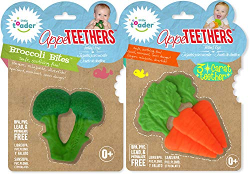 Teething Toys – BPA Free – Broccoli and 3 Carrot Appe TEETHERS Combo Gift Set