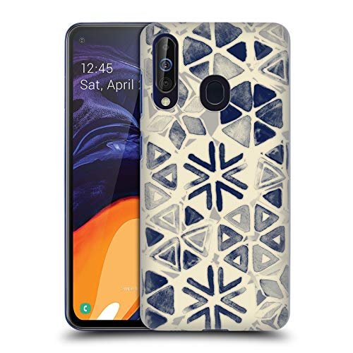 Official Micklyn Le Feuvre Hand Painted Triangle and Honeycomb Ink Patterns 3 Hard Back Case Compatible for Samsung Galaxy A60 - Triangle Painted Hand