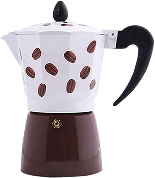 Cafetera Moka de café Mocha Olla de Aluminio Mini Cafetera Mano del hogar de Brewed Mocha Cafetera para el café de Cuerpo Completo (Color : Marrón, Size : 6cup): Amazon.es: Hogar