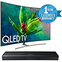 "Samsung QN55Q7C CURVED 55"" QLED 4K UHD 7 Series Smart TV 2018 BUNDLE WITH Samsung UBD-M7500/ZA 4K UHD Blu-Ray Player + 1 Year Extended Warranty"