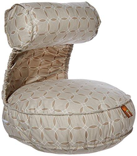 Leachco-Preggie-Pouffe-Maternity-Soft-Seat-Taupe-Rings