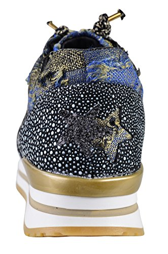 Shoes 2star Nero Scarpa Argento Da Bianca Tennis Blu Grigia 36 Gold Per Donna AwqOq