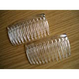 2 x Clear Small Side Combs / Hair Slides