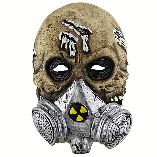 Halloween Latex Head masks Gruesome Zombie Costume Cosplay Props Gas Masks]()