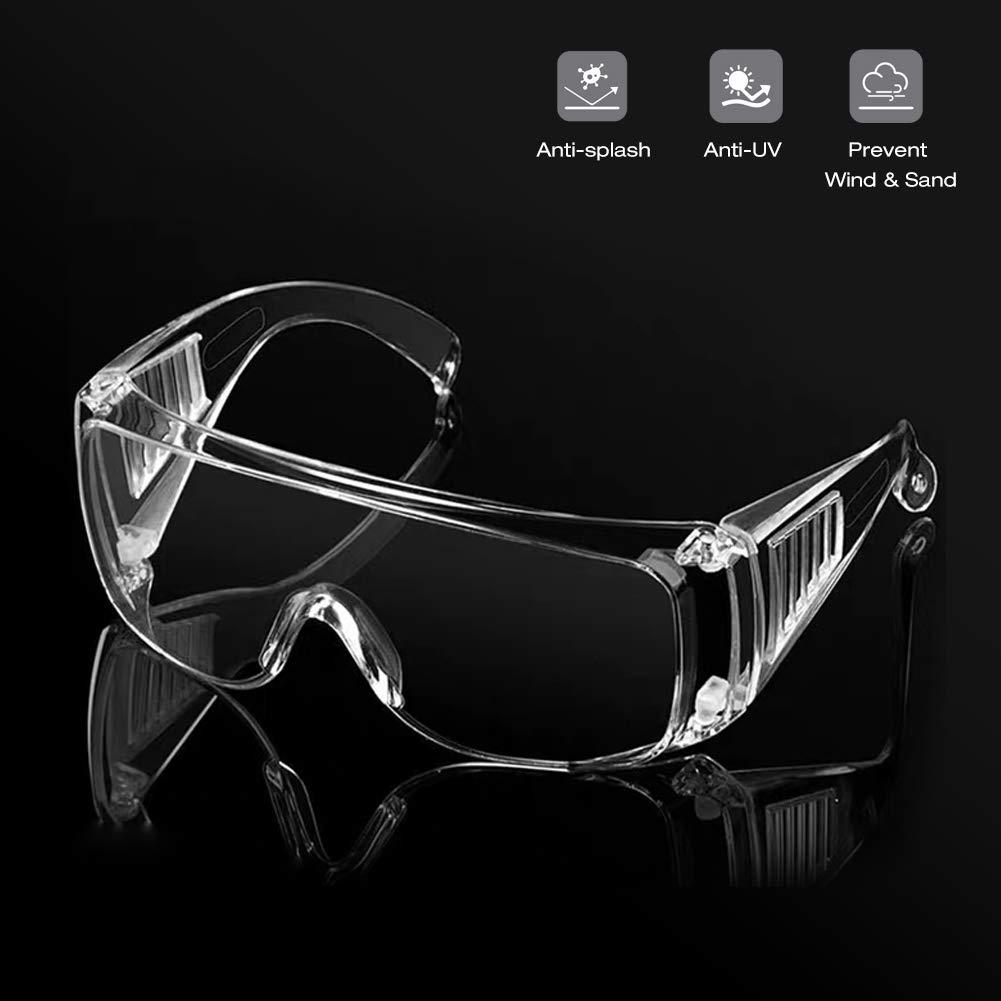 NAMSAN - Gafas de seguridad para la vida diaria y el trabajo, gafas protectoras de seguridad con protección UV antigolpes, blanco