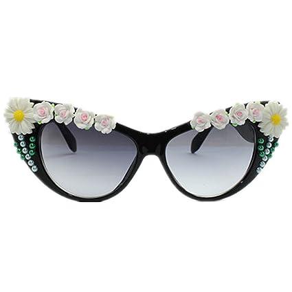Gafas de sol retro Decoración de girasol hecha a mano de la ...