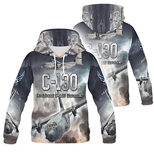Personalized USAF Air Force Transport Plane C 130 Hercules Hoodies for Men 3D Allover Printed