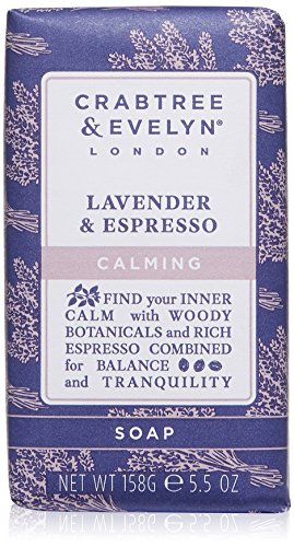 Crabtree & Evelyn Lavender & Espresso Triple Milled Soap, 5.5 oz.