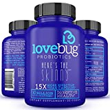 LoveBug Probiotics Supplement - Enhance Immune System for Digestive Health - 10 Billion CFU, Delayed Release, Gluten Free Tablet perfect for Women & Men - 30 Day Supply.