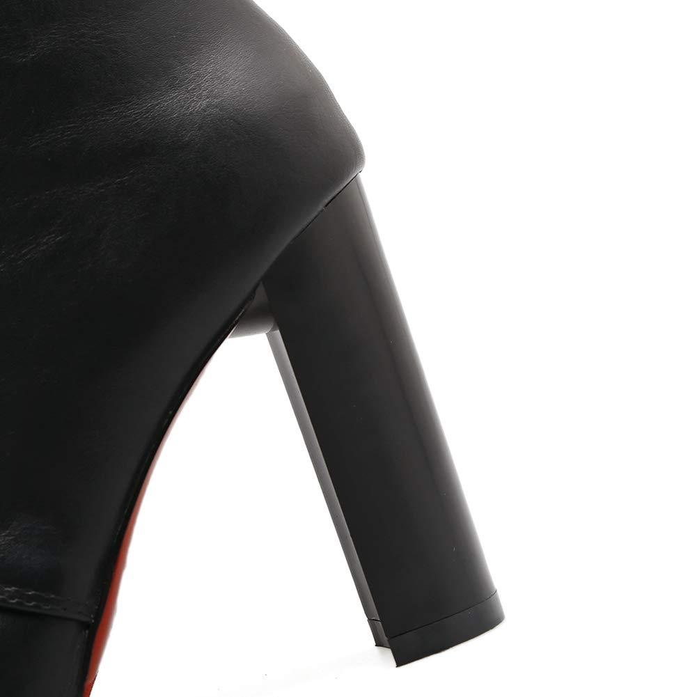 Stiefel Stiefeletten Kurz Stiefeletten Schuhe Winterstiefel Schlupfstiefel Warm Schwarze, Schwarze, Schwarze, Schwarze Damenstiefel Aus Leder Von Chelsea ZHAOYONGLI (Farbe   SCHWARZ, größe   35 (22.0cm-22.5cm)) 003cca