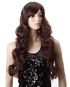 Dreamworld Stunning Long Dark Brown Ladies Wave Curly Wig Jf010039