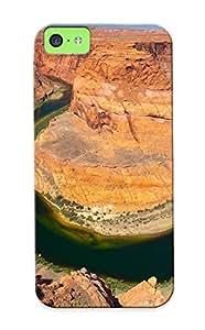 Pailslopeoo New Arrival Iphone 5c Case Horse Shoe Canyon Case Cover/ Perfect Design