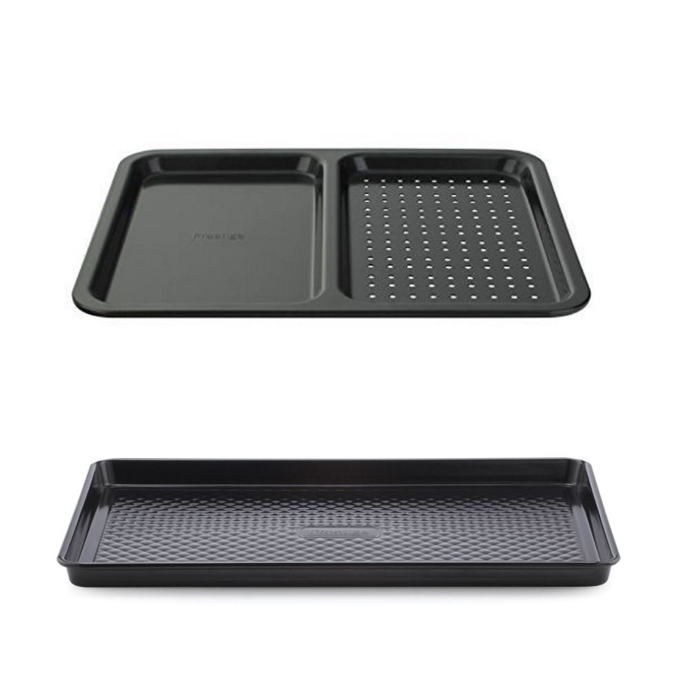 Prestige Inspire Non-Stick large Oven Tray 2 Piece Set | Large Tray and Split Tray Prestige /