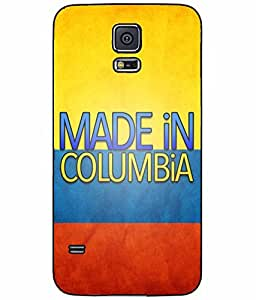 Made in Colombia Plastic Phone Case Back Cover Samsung Galaxy S5 I9600