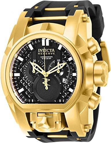 Reserve Men's 52mm Bolt Zeus Magnum Swiss Quartz Dual Movement Silicone Strap Watch () - Invicta 25607