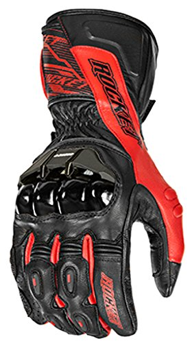Race Full Performance (Joe Rocket 1440-2102 Flexium TX Men's Motorcycle Gloves (Red/Black, Small))