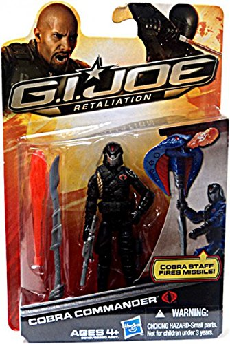 G.I. Joe Retaliation Action Figure Cobra Commander Black Outfit 3.75 -