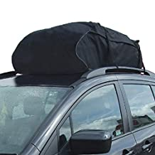Car Roof Bag Top Carrier Water Resistant 15 Cubic Feet Luggage Travel Across the Country Cargo Bag for Van or SUV