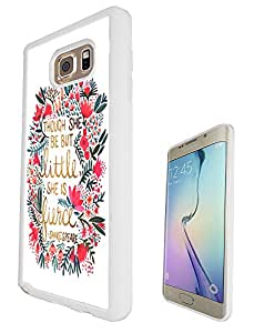 214 - Floral Shabby Chic shakespeare quote Design For Samsung Galaxy S6 Edge 5.7'