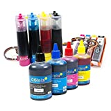 CISinks Continuous Ink Supply System with Ink Bottle Set for HP 934 935 Officejet Pro 6230 6830 6835 Officejet 6812 6815 6820 (HP934 / HP935)