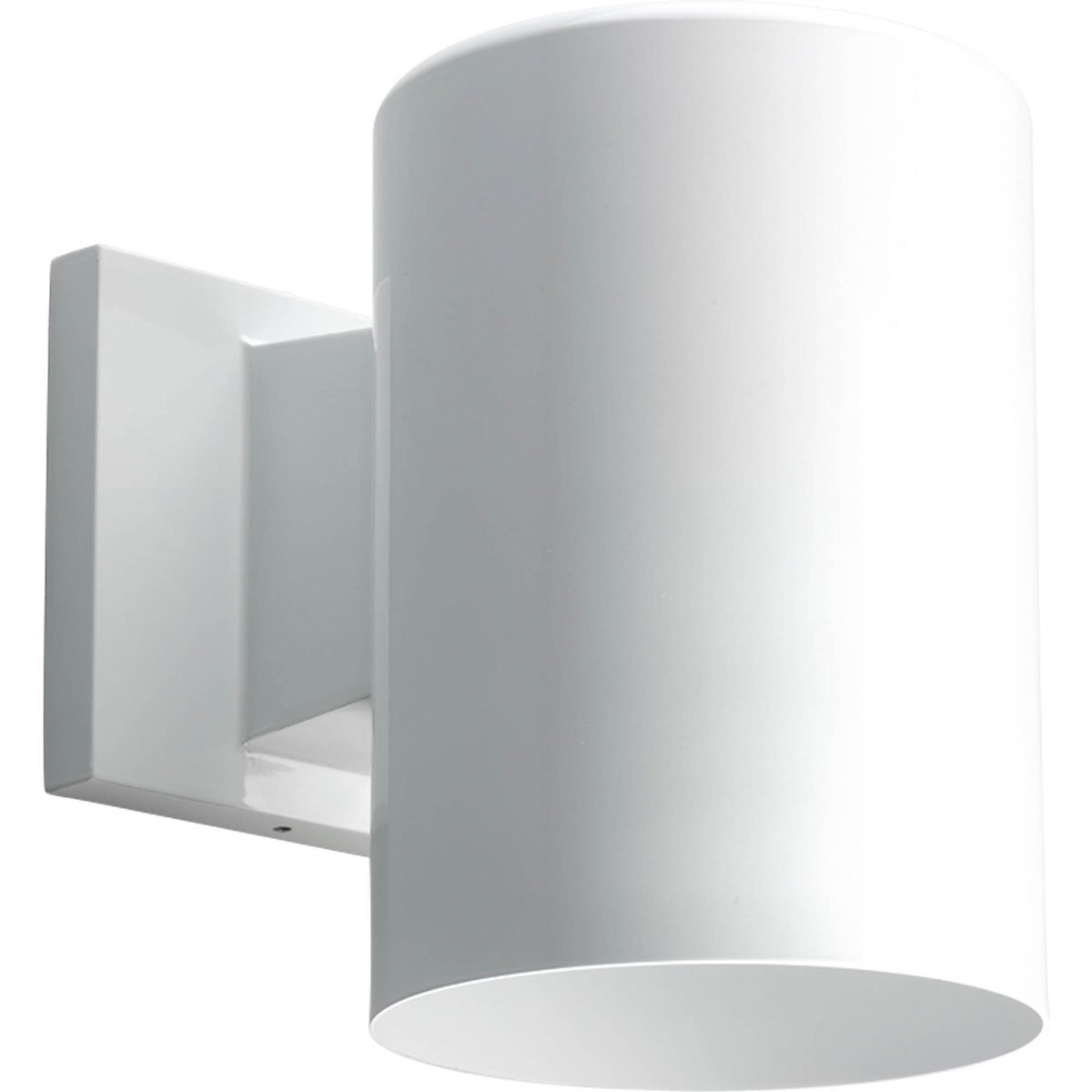 Progress Lighting P5674-30/30K Transitional One Light Wall Lantern from LED Cylinders Collection in White Finish