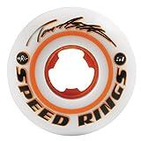 Ricta Wheels Tom Asta Pro Speed Rings 81b Skateboard Wheel, 51mm, White/Orange