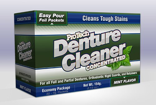 Protech Denture Cleaner 7g, (22 Pack)