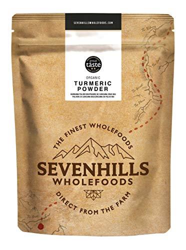 Sevenhills Wholefoods Cúrcuma Crudo En Polvo Orgánico 500g: Amazon ...
