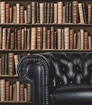 Tapete Bücherregal vinyl tapete in bücherregal bibliothek optik 3d effekt f92338