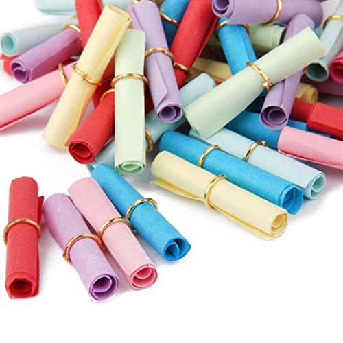 SM SunniMix 50pcs Colorful Scrolls Paper Write-On-It Valentine