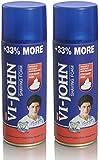 VI-John Shaving Foam for Hard Skin - 400 g (Pack of 2)