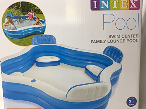 Intex Swim Center Family Lounge Inflatable Pool 90 X 90 X 26 For Ages 3 Camping Companion