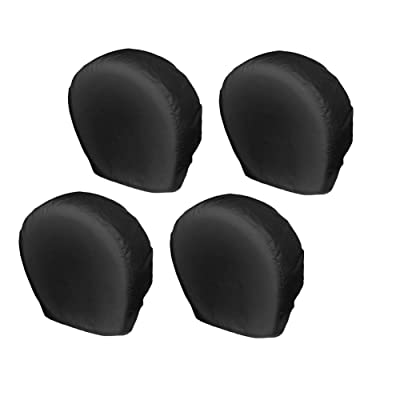 Explore Land Tire Covers 4 Pack - Tough Tire Wheel Protector For Truck, SUV, Trailer, Camper, RV - Universal Fits Tire Diameters 23-25.75 inches, Black: Automotive