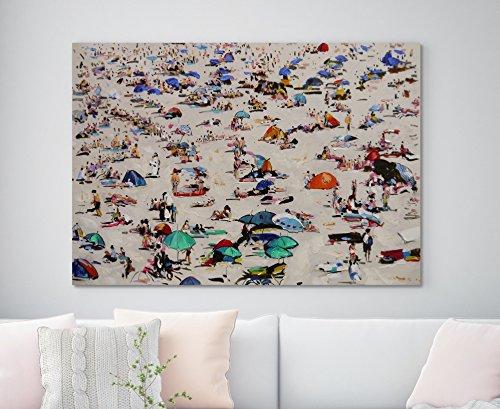 (Summer Beach Scene, Large Original Oil Painting On Canvas)
