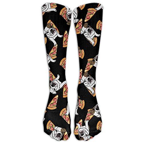 - Cute English Bulldog Pizza Thin Crew Socks Tube Socks Novelty Dress Socks for Womens Mens