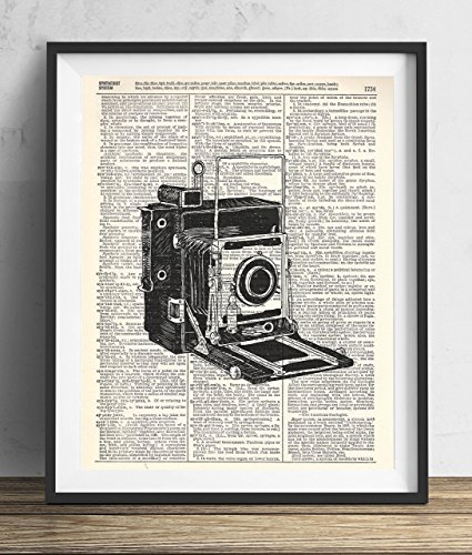 Vintage Camera (#2) Upcycled Dictionary Art Print 8x10