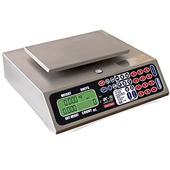 TORREY QC 5/10 Electronic Tabletop with LCD Display and Backlight, 10 lb, 50 Tare Weight Memories