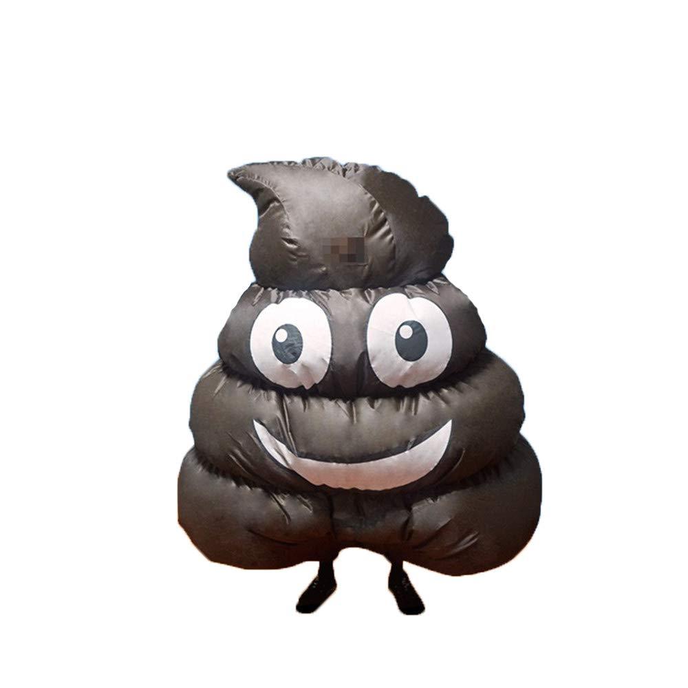 QSEFT Aufblasbare Kleidung Angry Poop Kostüme Cosplay Karneval Party Dress Up Lustige Emoji Poop Kleidung Halloween Rollenspiel Poop Kostüme
