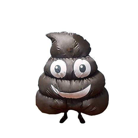 QSEFT Disfraz De Emoji Poop Pile Inflable para Taburetes Adultos ...