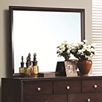 Coaster Home Furnishings 201974 Casual Contemporary Mirror, Merlot