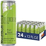 Red Bull Energy Drink Kiwi Apple 24 Pack of 12 Fl Oz, Green Edition